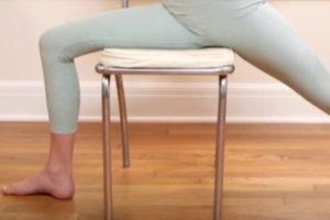 Yoga sur chaise
